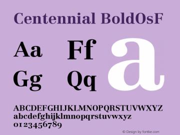 Centennial BoldOsF Version 001.000图片样张