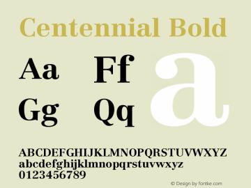 Centennial Bold Version 001.000图片样张