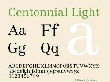 Centennial Light Version 001.000图片样张