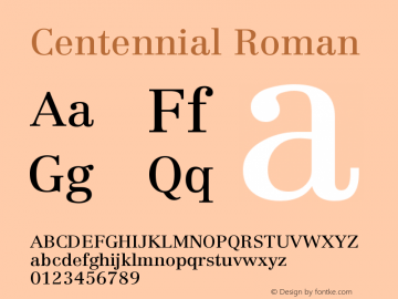 Centennial Roman Version 001.000图片样张