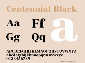 Centennial Black Version 001.000图片样张