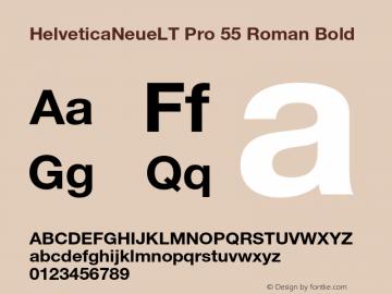 HelveticaNeueLT Pro 55 Roman Bold Version 1.000;PS 001.000;Core 1.0.38 Font Sample