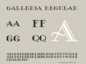 Galleria Regular Unknown Font Sample