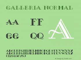 Galleria Normal Version 1.0 Font Sample