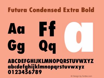 Futura Condensed Extra Font,Futura-CondensedExtraBold Font,Futura