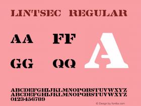 Lintsec Regular Version 001.025 Font Sample