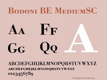 Bodoni BE MediumSC Version 001.001图片样张