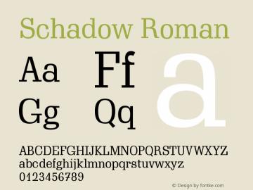 Schadow Roman Version 003.001图片样张