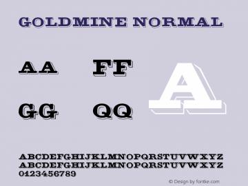 GoldMine Normal Version 1.0 Font Sample