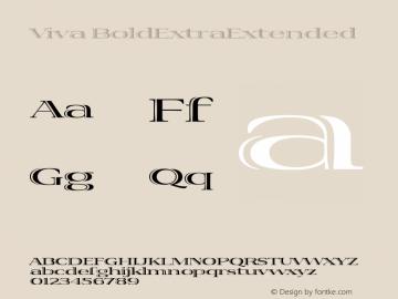 Viva BoldExtraExtended Version 001.000图片样张