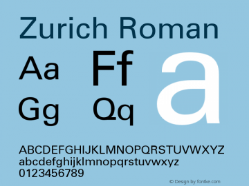 Zurich Roman Version 003.001图片样张