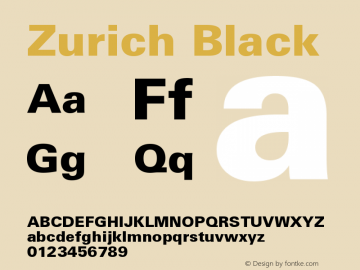 Zurich Black Version 003.001图片样张