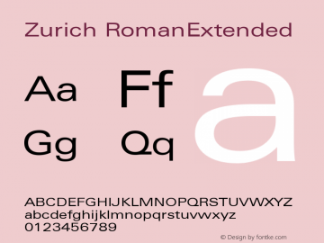 Zurich RomanExtended Version 003.001图片样张