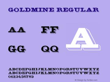 GoldMine Regular Version 1.0 Font Sample