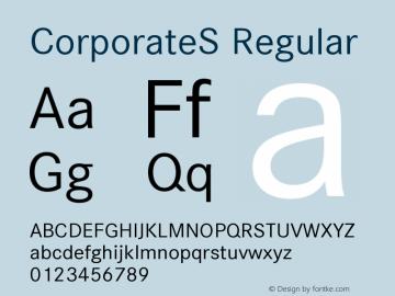 CorporateS Regular Version 001.004 Font Sample
