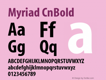 Myriad CnBold Version 001.000 Font Sample