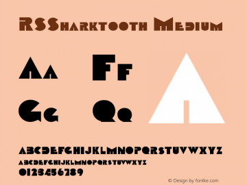 RSSharktooth Medium Version 001.001 Font Sample