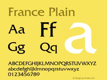 France Plain 001.003 Font Sample