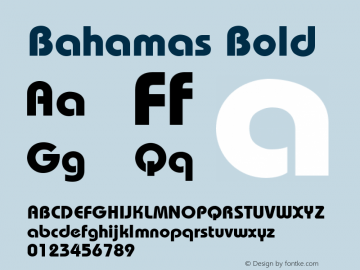 Bahamas Bold Unknown Font Sample