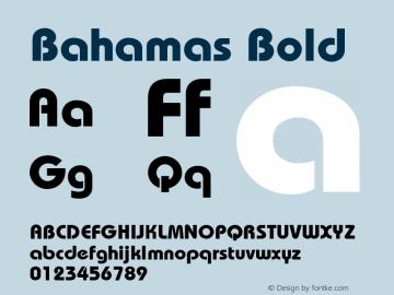 Bahamas Bold Unknown Font Sample