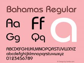 Bahamas Regular Unknown Font Sample