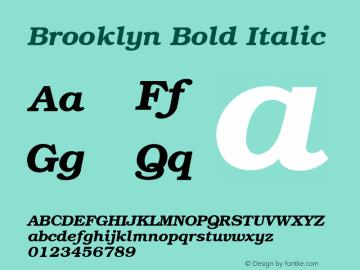 Brooklyn Bold Italic v1.00 Font Sample