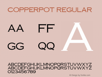 CopperPot Regular Unknown Font Sample