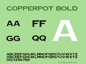 CopperPot Bold Unknown Font Sample