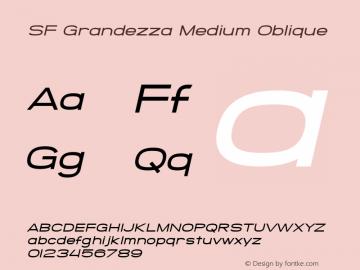 SF Grandezza Medium Oblique v1.0 - Freeware Font Sample