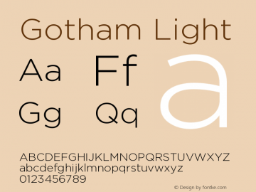 Gotham Light Version 001.000图片样张