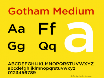 Gotham Medium Version 001.000图片样张