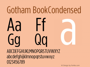 Gotham BookCondensed Version 001.000图片样张
