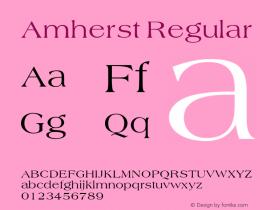 Amherst Regular Unknown Font Sample