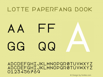 Lotte Paperfang Book Version 1.0 Font Sample