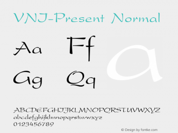 VNI-Present Normal 1.0 Sat Jan 30 10:45:31 1993 Font Sample
