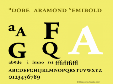 Adobe Garamond Semibold 001.002 Font Sample