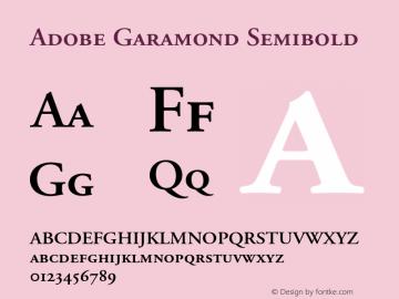 Adobe Garamond Semibold 001.002 Font Sample