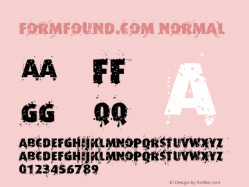 Formfound.com Normal Version 001.000 Font Sample