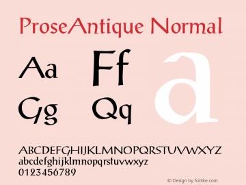 ProseAntique Normal Version 001.003 Font Sample