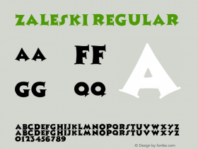 Zaleski Regular Unknown Font Sample