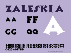 Zaleski A 1.0 Tue Jun 14 09:40:34 1994 Font Sample