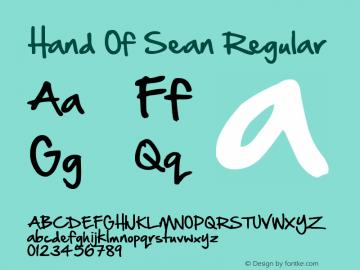 Hand Of Sean Regular Version 3.00 December 22, 2010图片样张