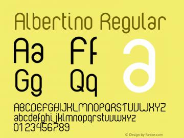 Albertino Regular Version 1.0 May 22, 2008, final release图片样张