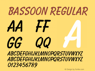 Bassoon Regular Unknown Font Sample