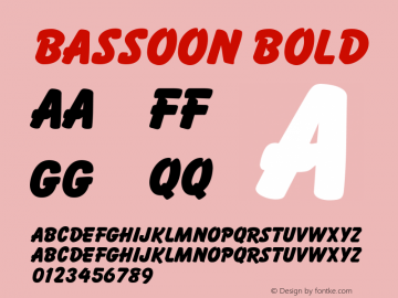 Bassoon Bold Unknown Font Sample