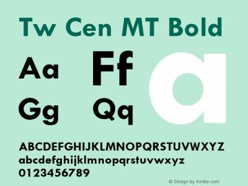 Tw Cen MT Bold 001.002 Font Sample