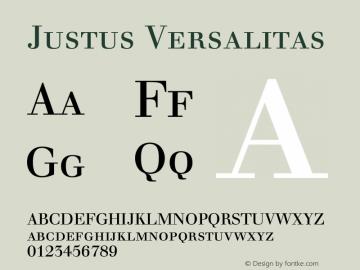 Justus Versalitas Version 001.001 Font Sample