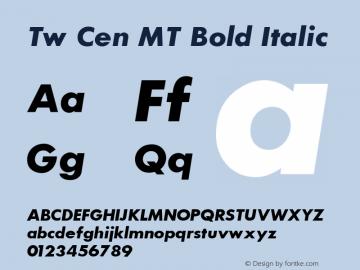 Tw Cen MT Bold Italic 001.002 Font Sample