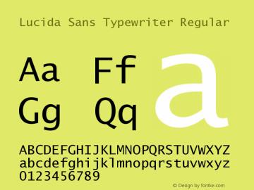 Lucida Sans Typewriter Regular September 21, 1998; 1.00 (JAVA) Font Sample