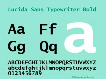 Lucida Sans Typewriter Bold Version 1.00 Font Sample
